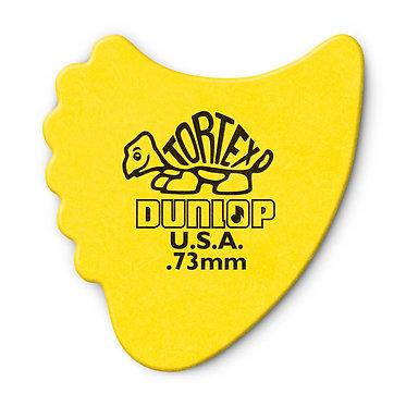 Dunlop 414R Tortex Fin Guitar Pick 0.73mm FrontView