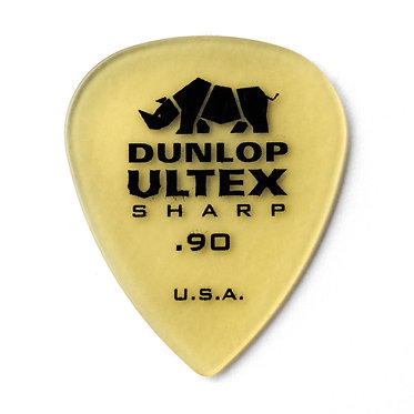 Dunlop 433R Ultex Sharp Guitar Pick .90mm FrontView