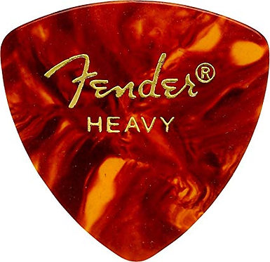 Fender 346 Heavy Celluloid Guitar Pick FrontView