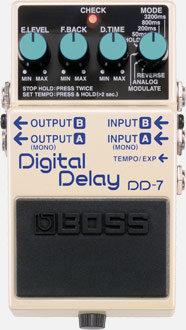 BOSS DD-7 Digital Delay Guitar Effects Pedal Front