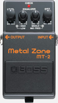 BOSS MT-2 Metal Zone Front