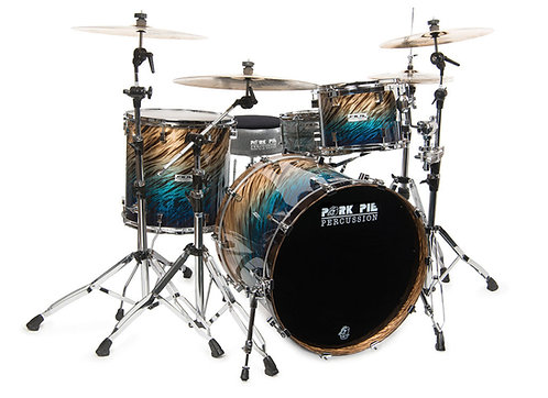 Pork Pie USA Custom Kit -Birch Shells 100% Blue Fade Dip Set