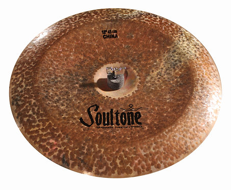 Soultone Natural Prototype China Cymbal - Top View