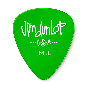 Dunlop 486RML Gel Medium Light Guitar Pick  0.60mm FrontView