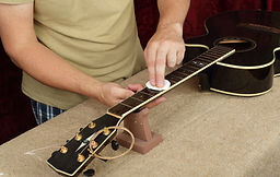 Musical instrument guitar repair and ser
