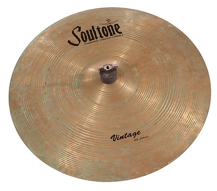 Soultone Vintage Old School Crash Cymbal Patina Finish -Top View