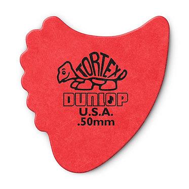 Dunlop 414R Tortex Fin Guitar Pick 0.50mm FrontView