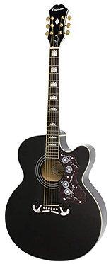 Epiphone EJ -200SCE-Super Jumbo Cutaway A/E Guitar-Black