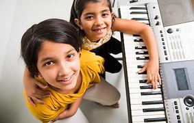Two Cute little Indian/Asian girls playi