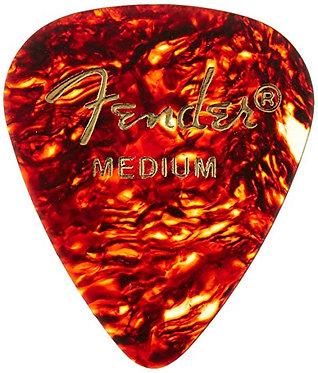 Fender 351 Shape Premium Celluloid Pick-Medium-CloseUp