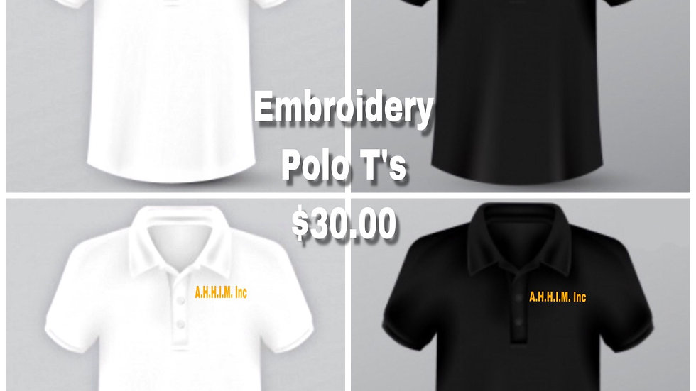 Men + Women Embroidered Polo T