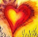 """Acylmalerei von Andrea Linzer, """"HEARTBEAT"""", 20x20cm"""