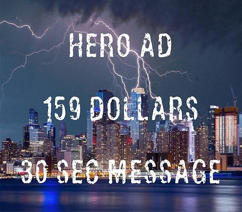 Hero Message