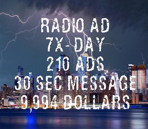 Radio AD - 210 ADs - 7x/Day