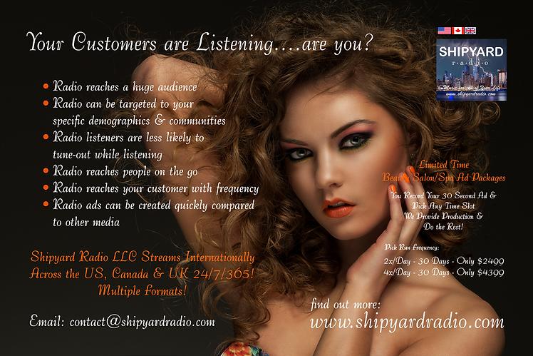 Beauty salon Ad - Shipyard Radio - 02-03