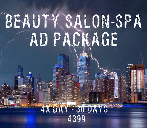 Beauty Salon/Spa Ad Package - 4x Day - 30 Days