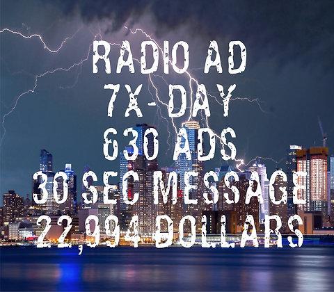 Radio AD - 630 ADs - 7x/Day