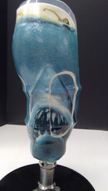 Our technicians are able to incorporate numerous designs and graphics onto most prosthesis or orthosis.