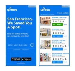 Interactive Ad Unit / SpotHero