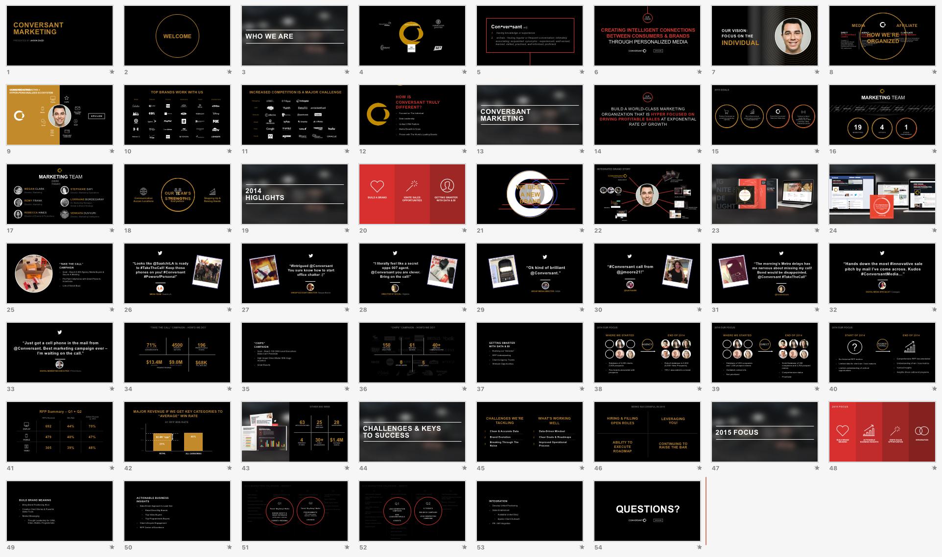 Presentation Design / Conversant