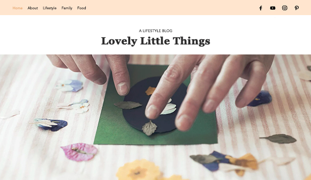 Livsstil website templates – Blogg for mødre