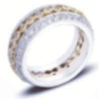 Diamond Eternity Ring Two Tone