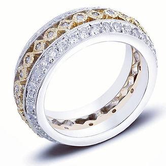 Diamond Eternity Ring Two Tone