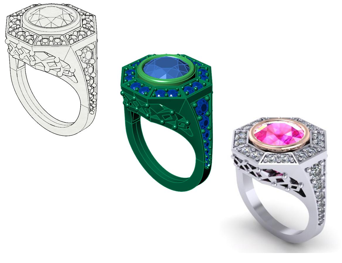 Pink Sapphire Statement Ring