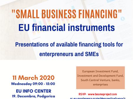 OTKAZANO - Poziv preduzetnika da prisustvuju događaju 11. marta u EU Info Centru