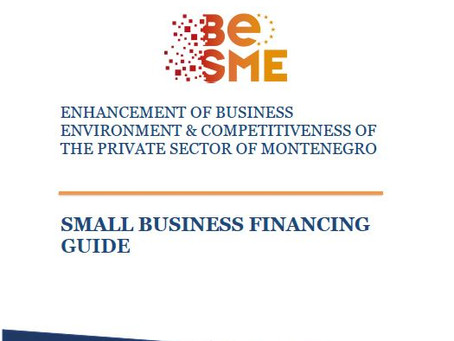 """Guide """"Access to finance for small business financing"""""""