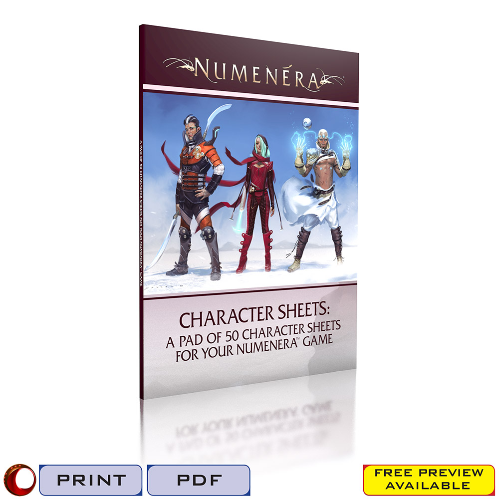 Numenera-Character-Sheets