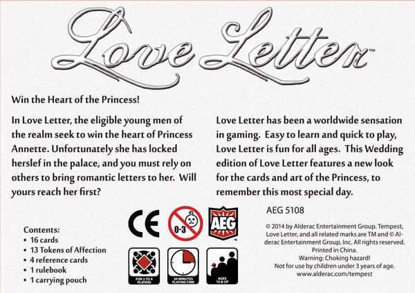 Kalissafdesign Love Letter Wedding Edition