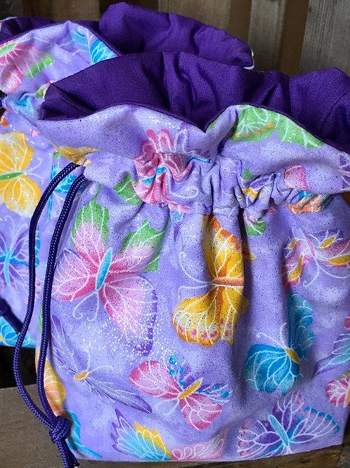 Glitter Butterflies on Lavender