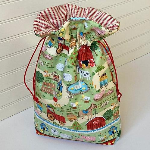 Baby Farm Animals Nursery Theme Gift Sack