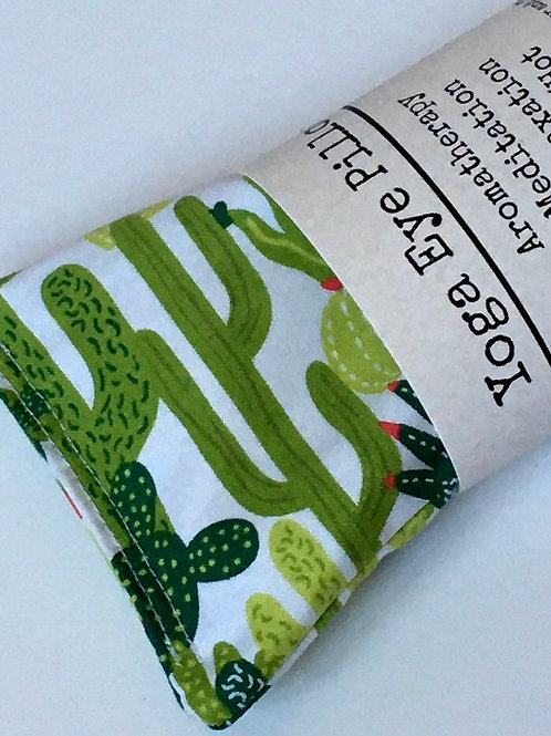 Weighted Lavender Eye Pillow in Cactus Print