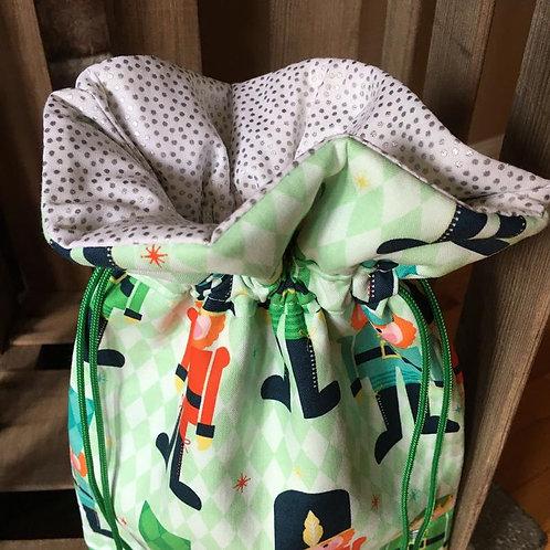 Nutcracker Print Christmas Gift Bag