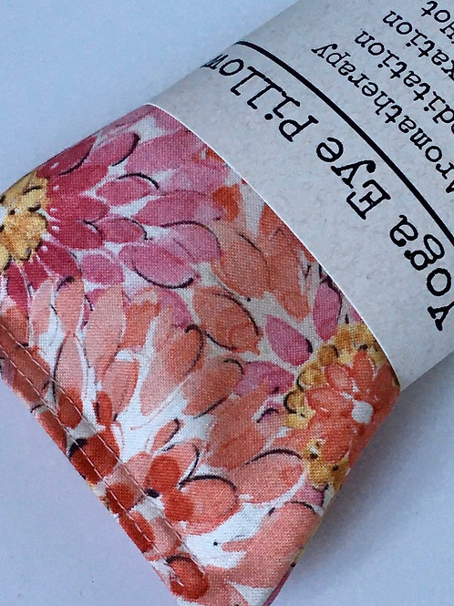 Pink Floral Print Lavender Eye Pillow