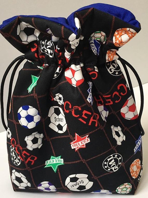 Fabric Keepsake Birthday Gift Bag in Soccer Print