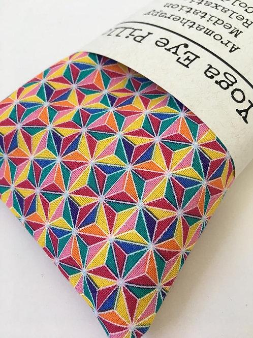 Multicolor Geometric Print Eye Pillow