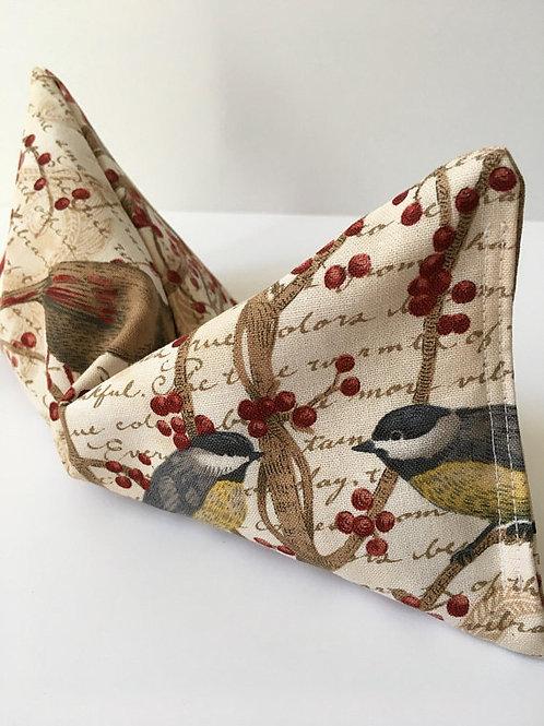 Winter Bird Print Eye Pillow