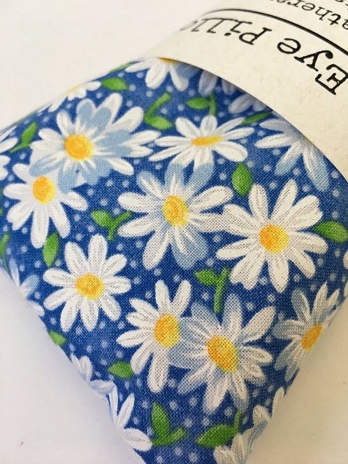 Blue Daisy Print Lavender Eye Pillow