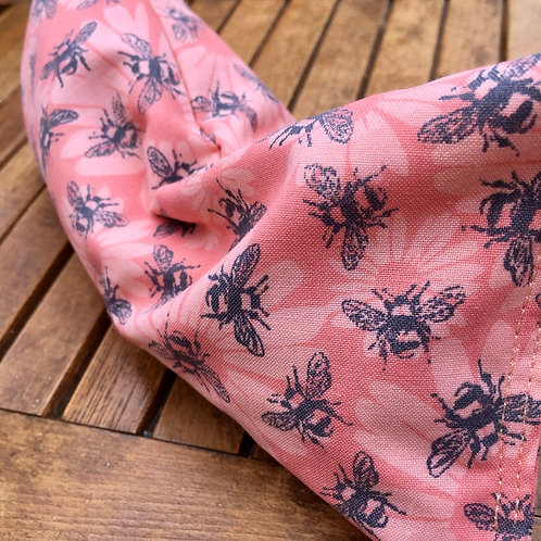 Bees on Peach Eye Pillow
