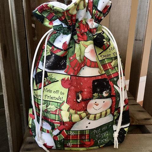 Snowman  Print Christmas Bag
