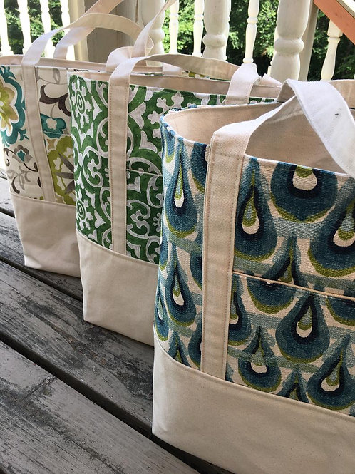 Knitter's Canvas Totes - Set of 5