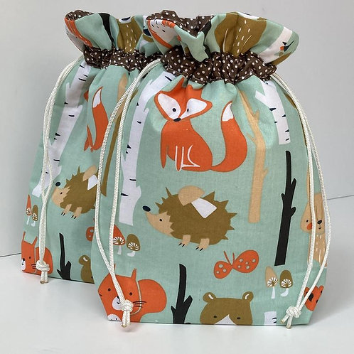 Foxes Gift Wrap Bag