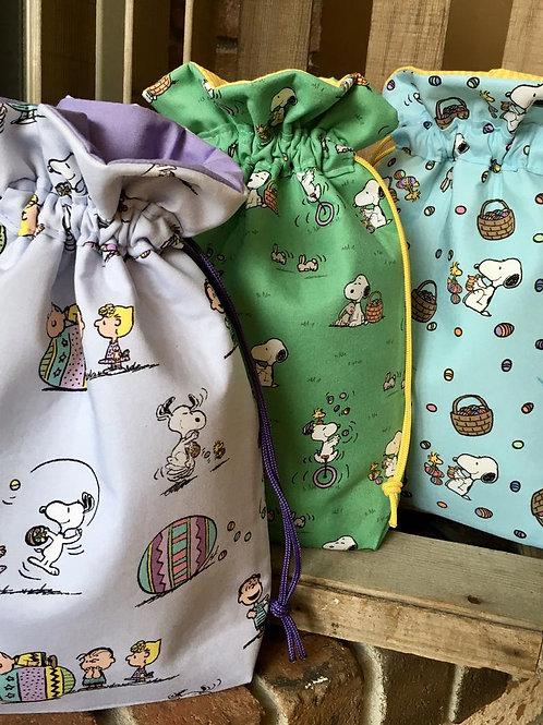 Fabric Easter Gift Bag, Easter Reusable Cloth Hostess Gift Bag, Easter Teachers
