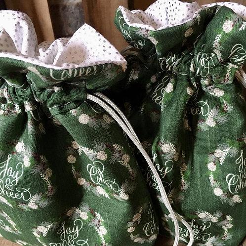 Holiday Gift Bag in Joy & Cheer Print