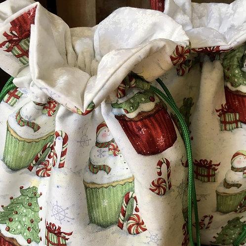 Snowmen on Cupcakes Gift Bag
