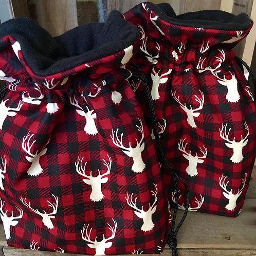 Buffalo Check Elk Chrismas Bag