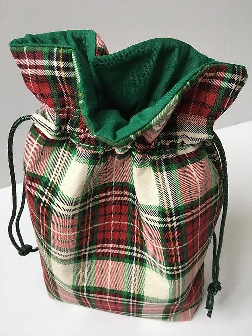 Plaid Christmas Gift Bag